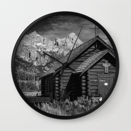 Chapel of Transfiguration and Grand Teton Wall Clock