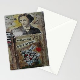 FOLLOW THE WHITE RABBIT I Stationery Cards