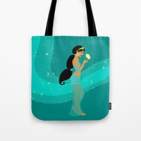 jasmine Tote Bags featuring Jasmine by Eva Duplan Illustrations