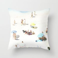 beach XXI Throw Pillow