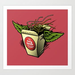 The Flying Noodle Takeaway Company Art Print