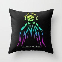 ALL LIGHT WILL FALL - Falling Sun design  Throw Pillow