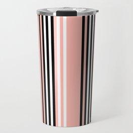 Geometric Design 8 to compliment Horizons Geometric Design 5 - Peach Pink Travel Mug
