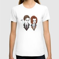 mulder T-shirts featuring mulder and scully by Bunny Miele