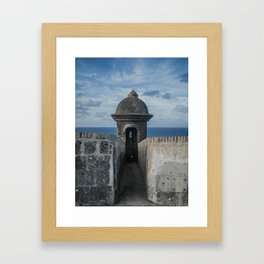 Fortification walls in Puerto Rico Framed Art Print