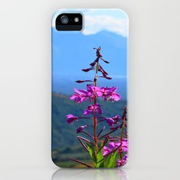 Fireweed Overlooking Mat-Su Valley, Alaska iPhone Case