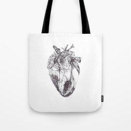 Stippling Heart Tote Bag
