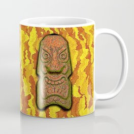 Mean Face Tiki Coffee Mug