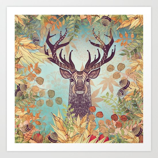 THE FRIENDLY STAG Art Print