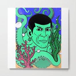 Spocktopus Metal Print