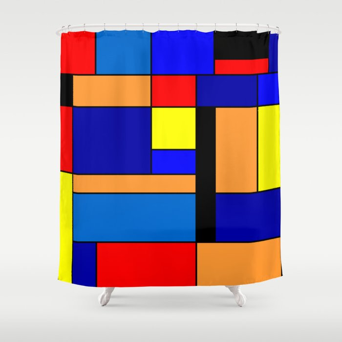 Mondrian #2 Shower Curtain