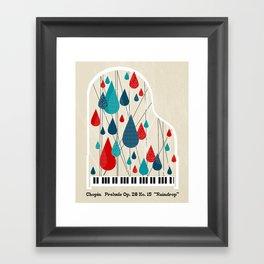 "Chopin - Prelude Op. 28 No. 15 ""Raindrop"" Framed Art Print"