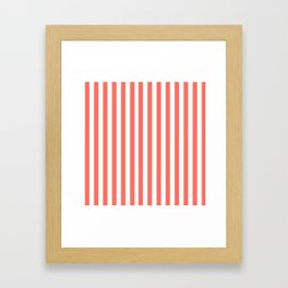 LIVING CORAL STRIPES PANTONE COLOR OF THE YEAR 2019 Framed Art Print