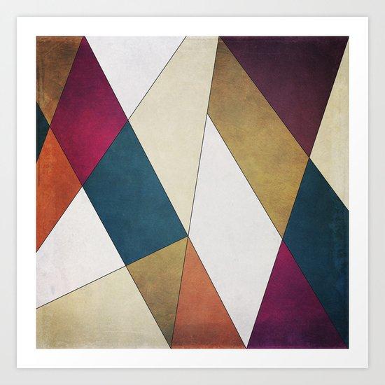 Geometric A/W Art Print
