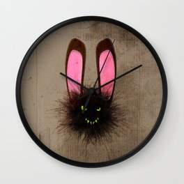 Evil Dust Bunny Wall Clock