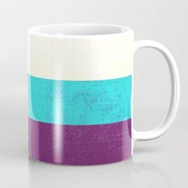 Textured Purple, Blue, White Coffee Mug