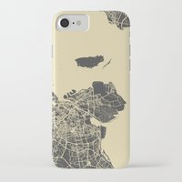 copenhagen iPhone & iPod Cases featuring Copenhagen map by Map Map Maps