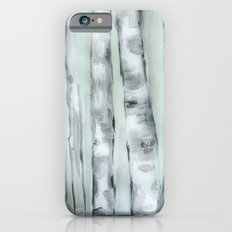 Birch trees in winter iPhone 6s Slim Case