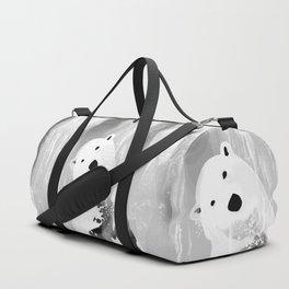 Unique Black and White Polar Bear Design Duffle Bag