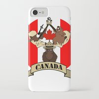 canada iPhone & iPod Cases featuring CANADA by scarah