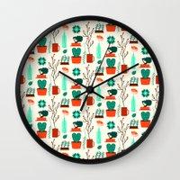 zen Wall Clocks featuring Zen by Ana Types Type