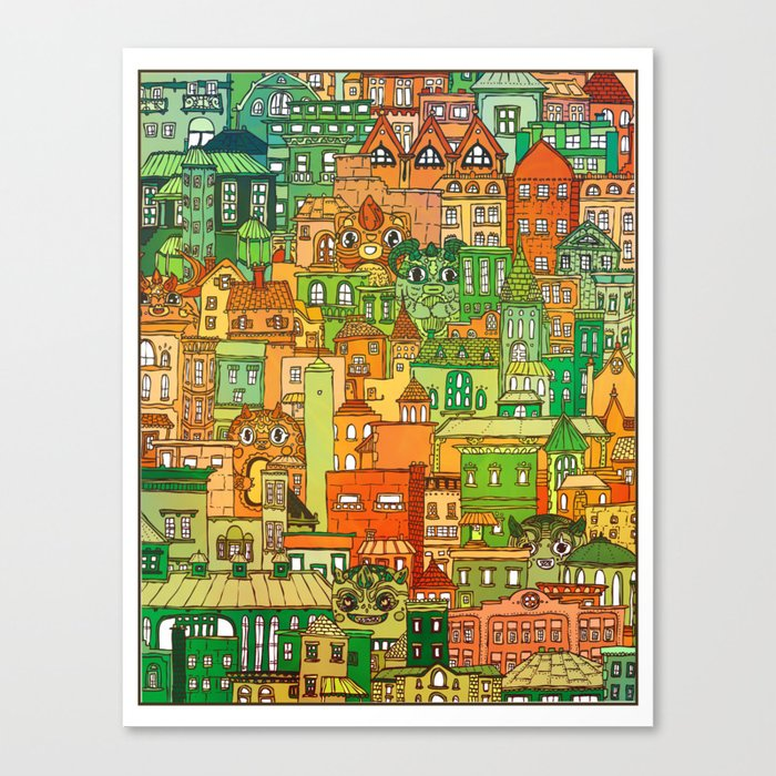 Housing District Canvas Print