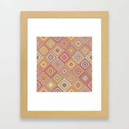 Granny's Millefiori Quilt-Spring Colors Framed Art Print