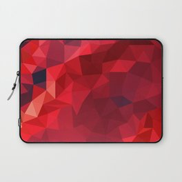 Ruby Red Low Poly Laptop Sleeve