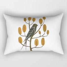 Swallow - golden brown Rectangular Pillow