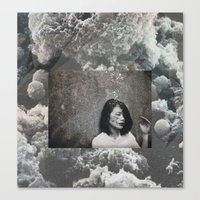 cloud Canvas Prints featuring cloud by Ina Nederdal