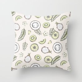 Exotic Fruits Throw Pillow