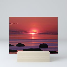 Sunset Ripples Mini Art Print