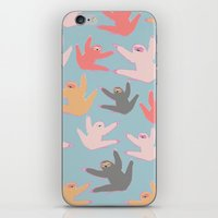 sloths iPhone & iPod Skins featuring Cute sloths pattern by Darish