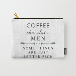 Coffee Chocolate Men Carry-All Pouch