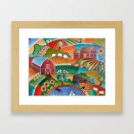 BONNIE DOON HILLS Framed Art Print