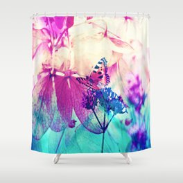 Butterfly in Wonderworld 2 Shower Curtain