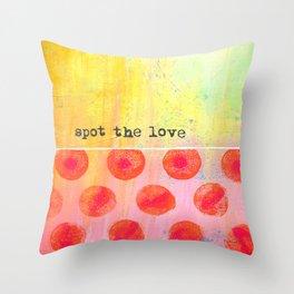 """""""Spot The Love"""" An original design by PhillipaheART Throw Pillow"""