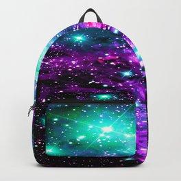 Fox Fur Nebula Teal Pink Purple Backpack