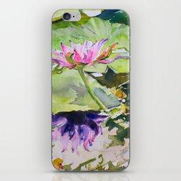 Flowering waterlily iPhone Skin