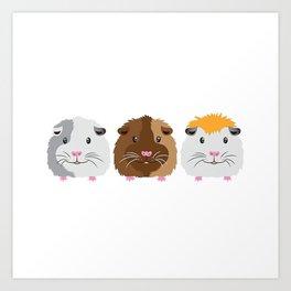 Little Guinea Pigs Art Print