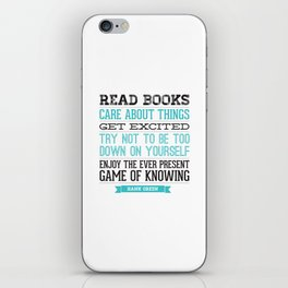 The Ever Present Game of Knowing iPhone Skin