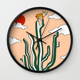 King of the Cactus Wall Clock