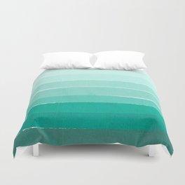 Ombre - Brushstroke Green/Blue Ocean Ombre, girly trend, dorm decor, cell phone, beach, summer,  Duvet Cover