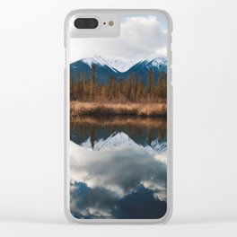 Vermillion Lakes II Clear iPhone Case