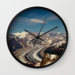 ALASKA I: Ruth Glacier beneath Denali ~ The Great One ~ Mt. McKinley Wall Clock