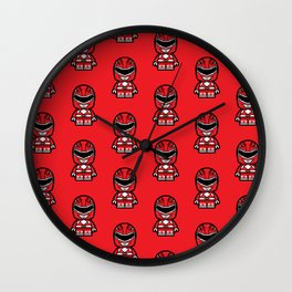 Power Chibi Red Ranger Wall Clock