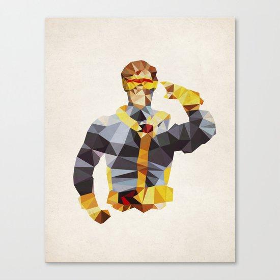 Polygon Heroes - Cyclops Canvas Print