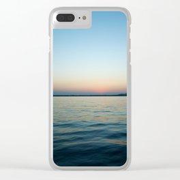 Subtle sunset Clear iPhone Case