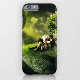 The Lovers, romantic magical realism portrait painting iPhone Case