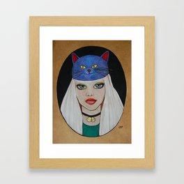 Miaw Girl Framed Art Print